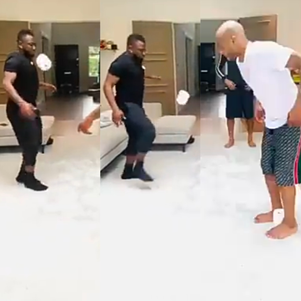 The Ayew Brothers display their football prowess with T-Roll (WATCH VIDEO)