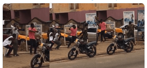 Man Slaps Military officer after being punished for flouting lockdown orders