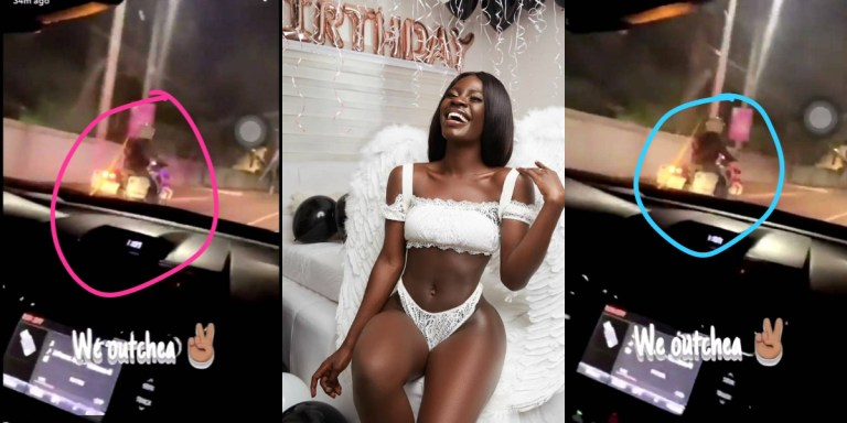 Lockdown: Accra Slay Queen DULCIE 'exempted' from quarantine after Dubai trip; enjoys police escort to birthday party