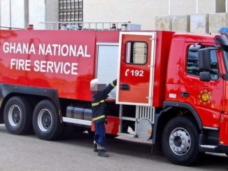 Fire Service Personnel's run for their lives after arriving late to quench fire