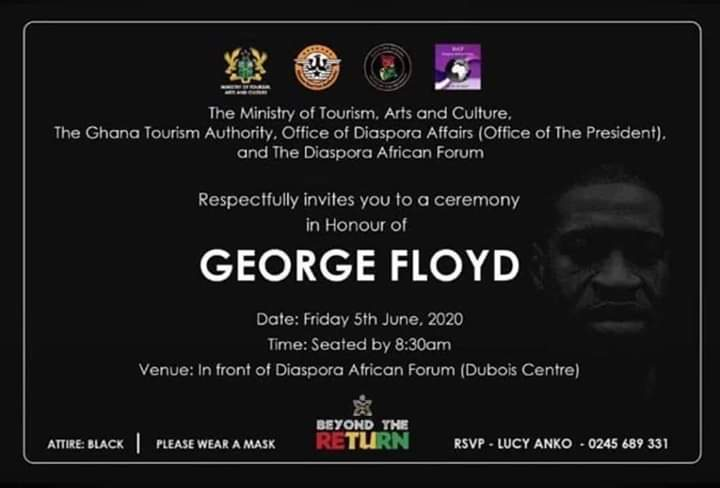 Akufo-Addo-government-to-hold-ceremony-in-honor-of-george-floyd