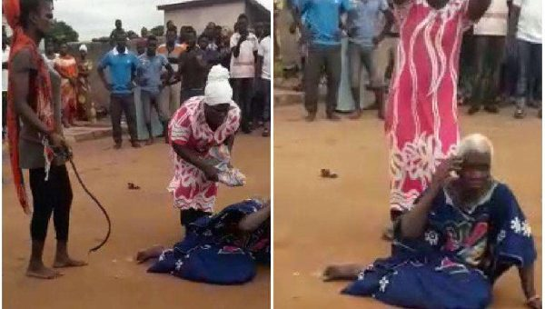 Five surrender to police over the lynching of 90-year-old woman