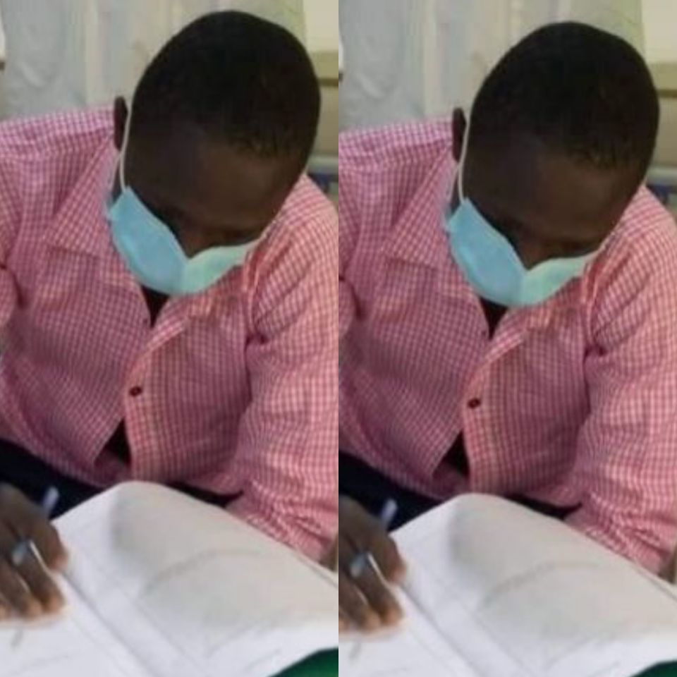 PHOTOS: COVID-19 patient sits for WASSCE exams