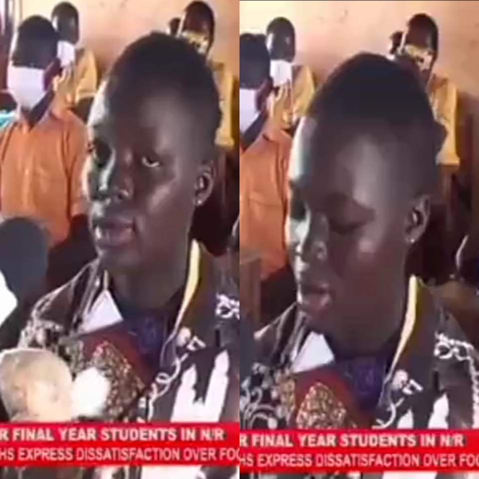 """VIDEO: """"Will you give this kind of food to your children?"""" – Final JHS student quizzes government"""