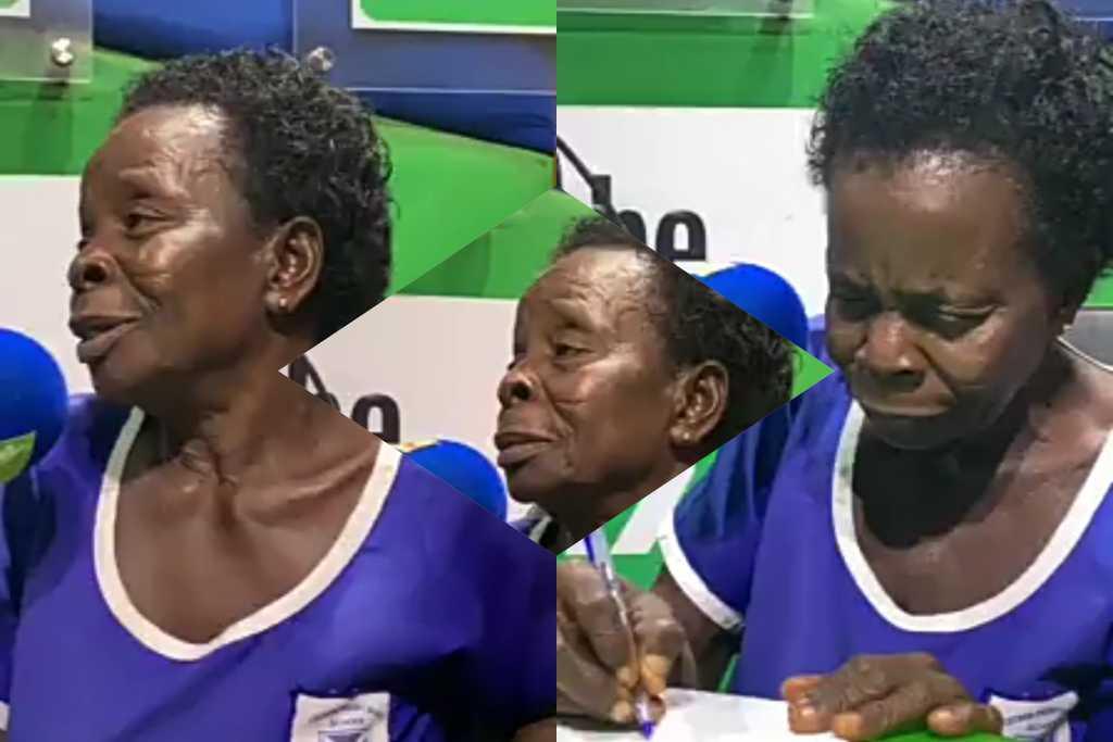57-year-old BECE graduate, Madam Elizabeth Yamoah entertains Listeners on OKAY FM (WATCH VIDEO)