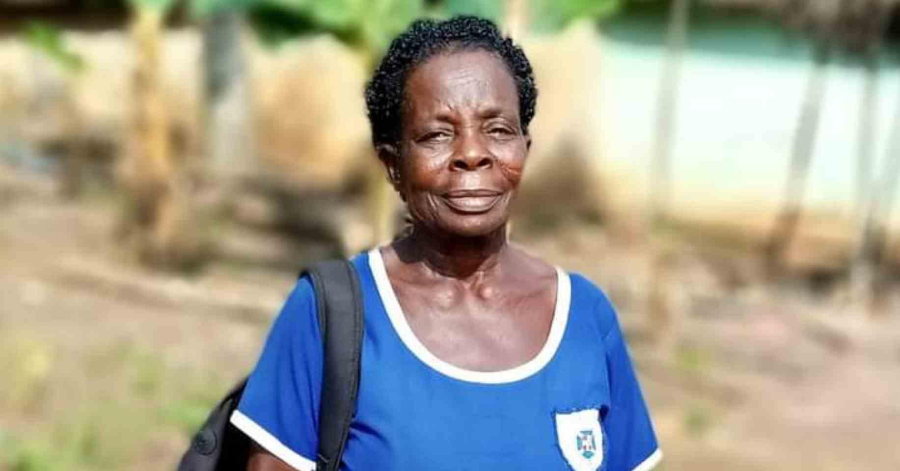 PHOTO: Meet Madam Elizabeth Yamoah, the oldest 2020 BECE candidate