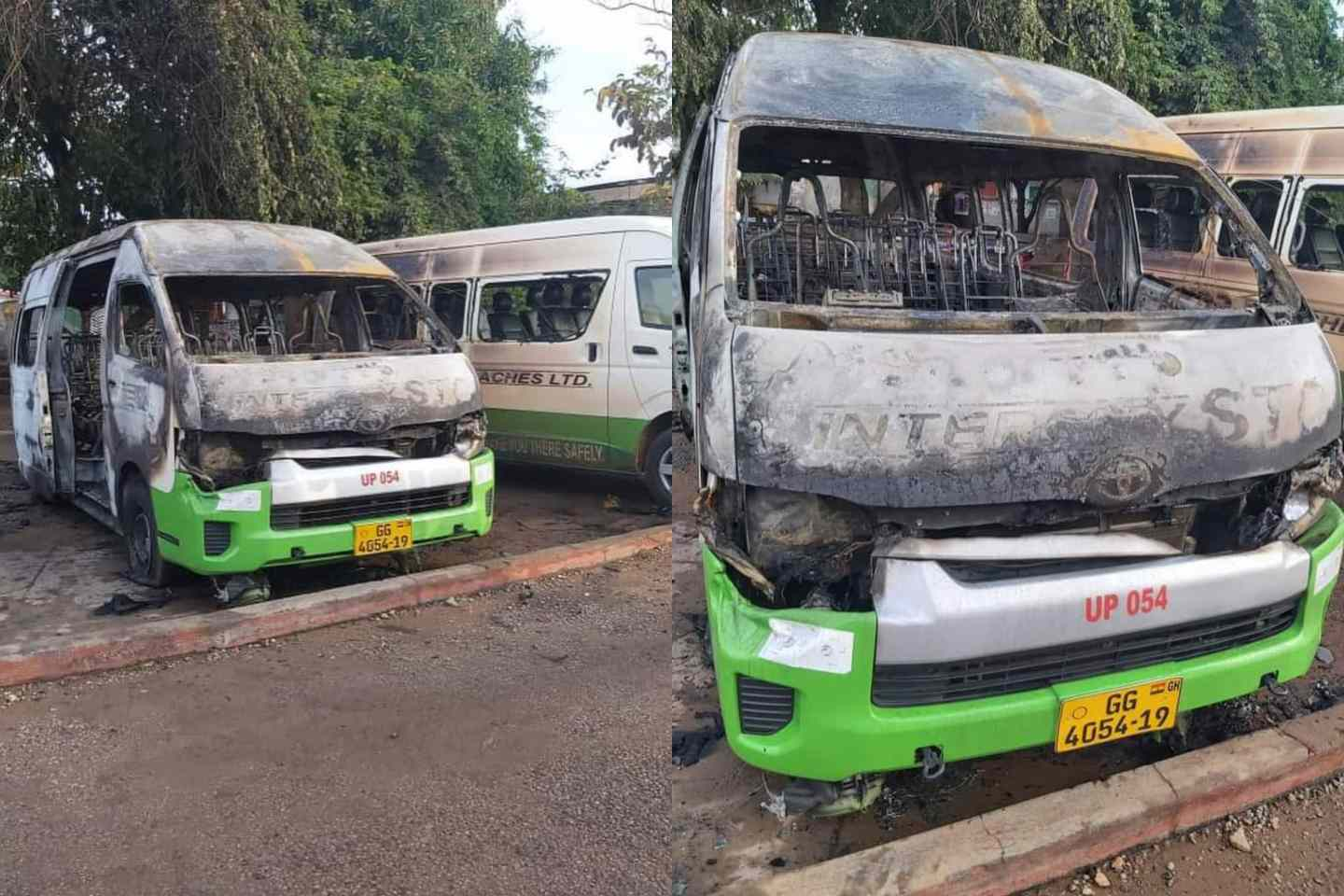 Western Togoland Group violently attacks STC DRIVERS, bus burnt