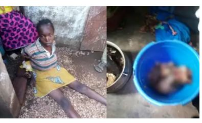 Disgusting as mother cooks her 6-month-old baby after slicing him into tiny pieces ( PHOTOS)