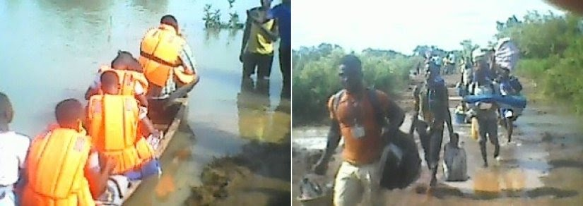 Stranded BECE candidates resort to canoes to write exams in Saboba District