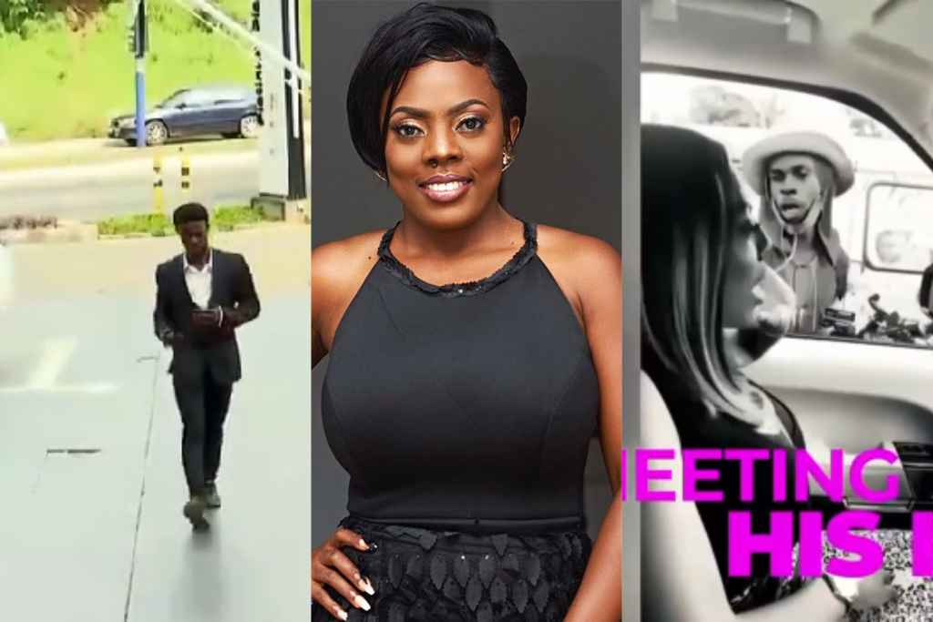 Touching! Nana Aba Anamoah turns popular street hawker she met recently into a TV presenter – VIDEO