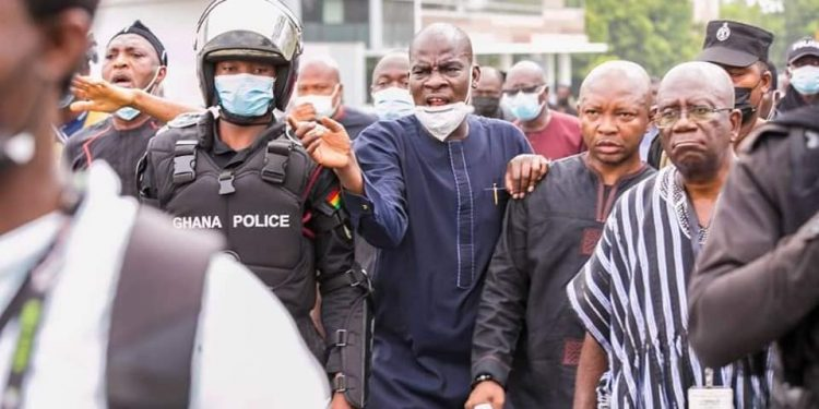 News In: NDC banned from holding street Protests in Accra