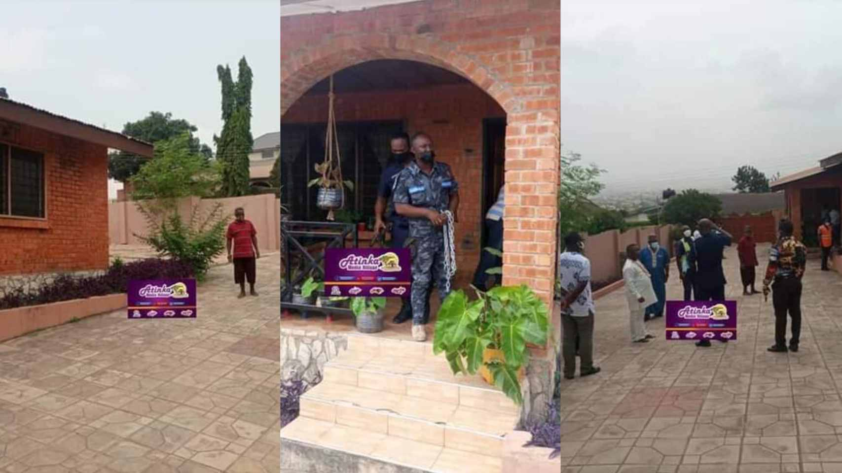 """Photos + Video: Gay """"Trumu"""" office at Kwabenya finally shut down by National Security"""