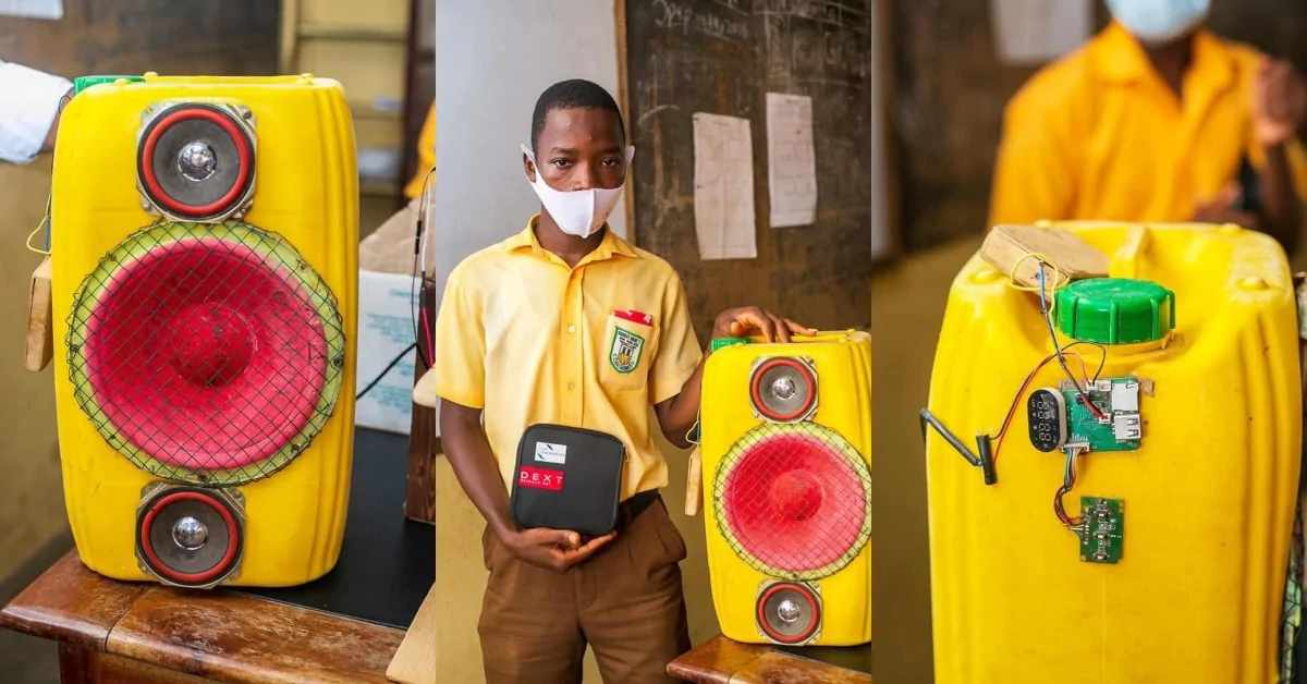 JHS Student Uses A Gallon To Create A Sound System With Bluetooth Technology (Photos)