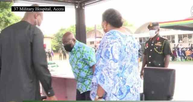 WATCH VIDEO: Akufo-Addo and wife take first jab of Coronavirus vaccine