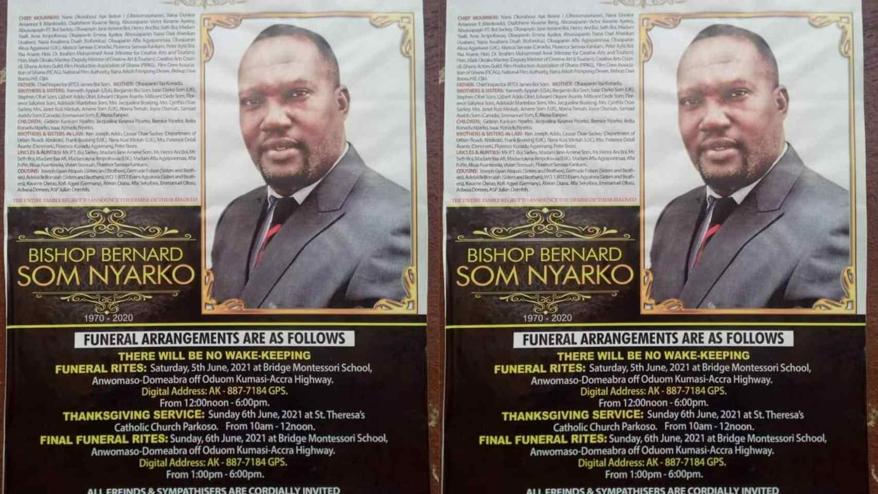 News In: Date and venue for Bishop Bernard Nyarko's final funeral rites released