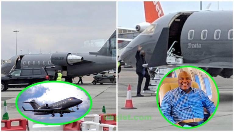 Money speaking'- See First photos of Ibrahim Mahama's Dzata Private Jet