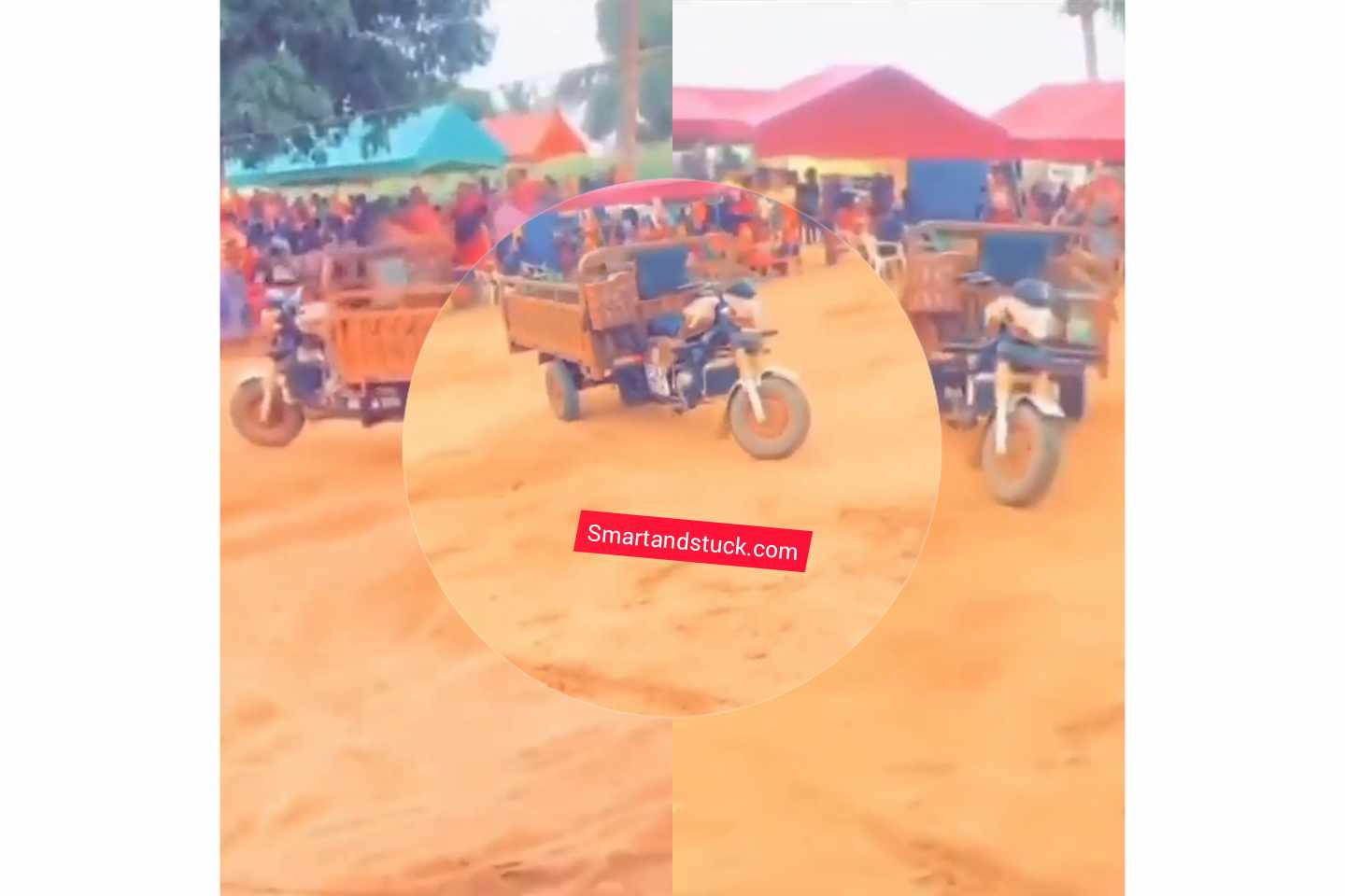 VIDEO: Tricycle with no driver spotted moving in Volta Region